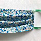 Ditsy Blue Floral Washable Face Mask