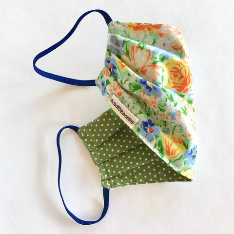 Liberty Print Green Yellow Orange Face Mask