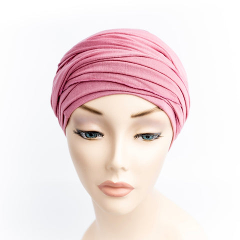 Rose Pink Cotton Head Wrap for Cancer Hair Loss