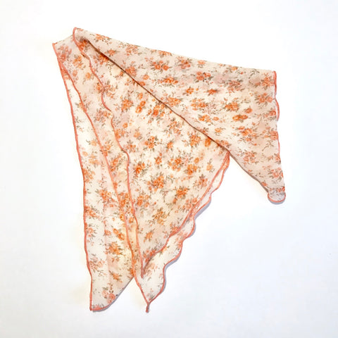 Vinatge Rose Pretty Cancer Headscarf Chiffon