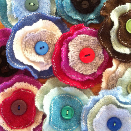Cashmere Flower Accessory