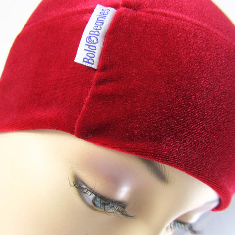 Velvet Plain Bold Beanies Hat - 7 Colours