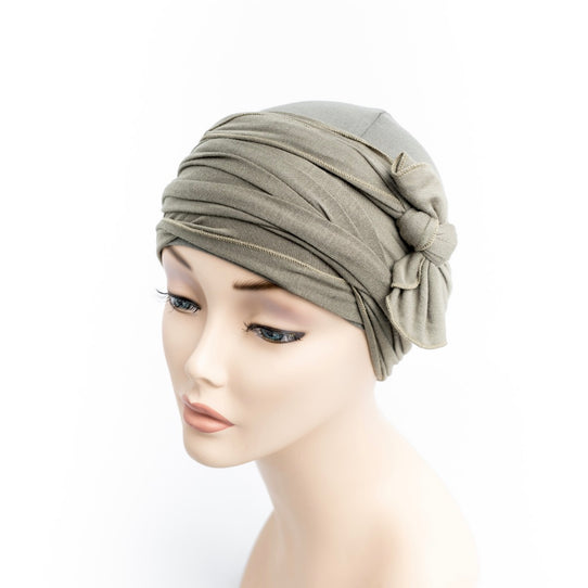 Cotton Cancer Khaki Head Wrap Turban