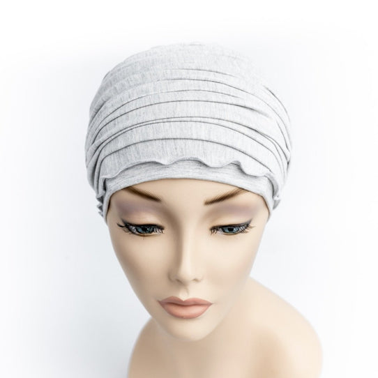 Grey Chemo Head Wrap