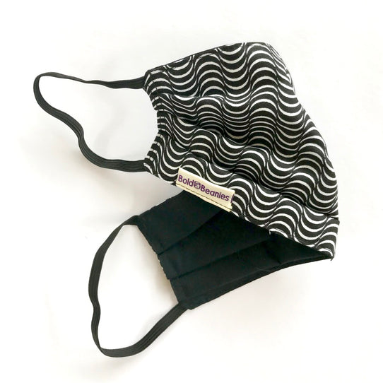 Black White Fun Hypnosis Face Covering Mask