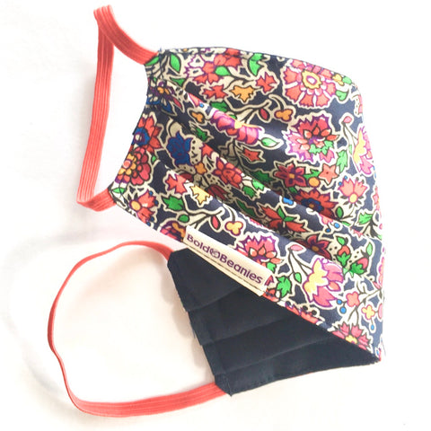 Liberty Print Floral Navy Cancer Face Mask