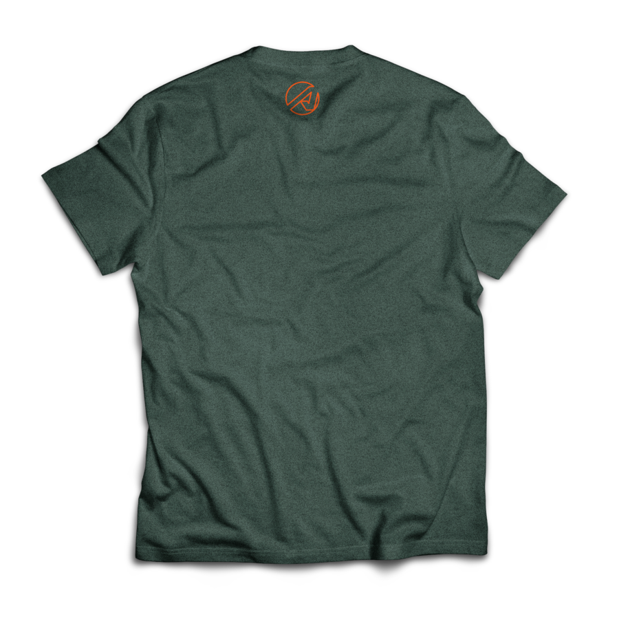 Wordmark Tee (Heather Forest Green)