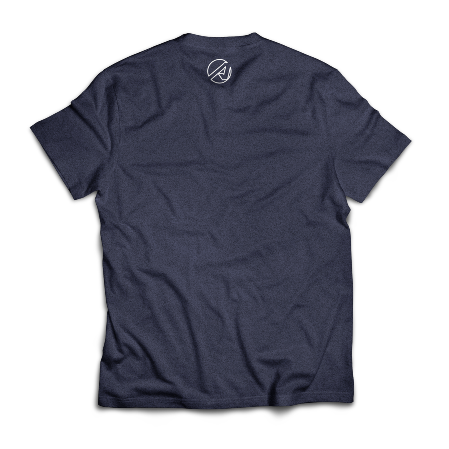 Wordmark Tee (Heather Navy)
