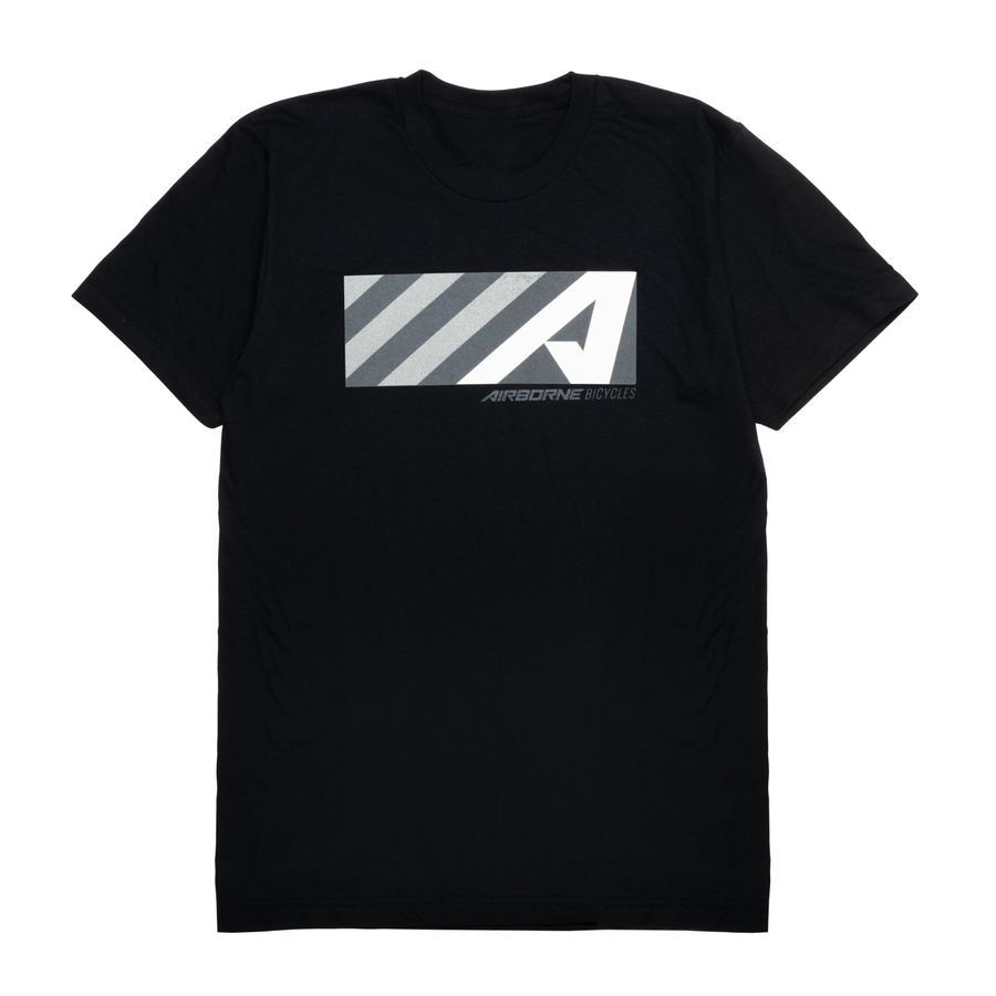 """A"" Box Logo Tee (Black)"