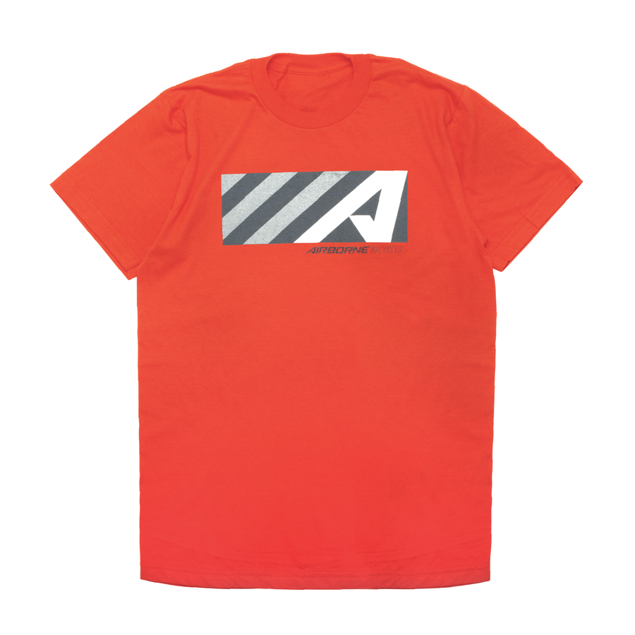 """A"" Box Logo Tee (Orange)"