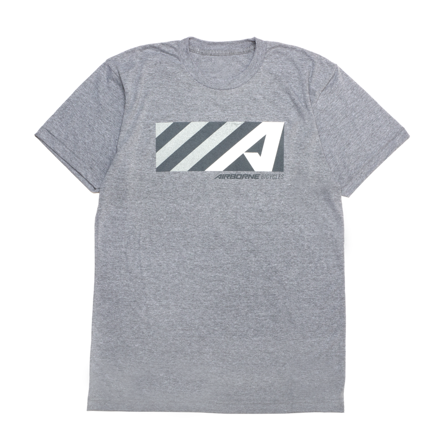 """A"" Box Logo Tee (Heather Gray)"