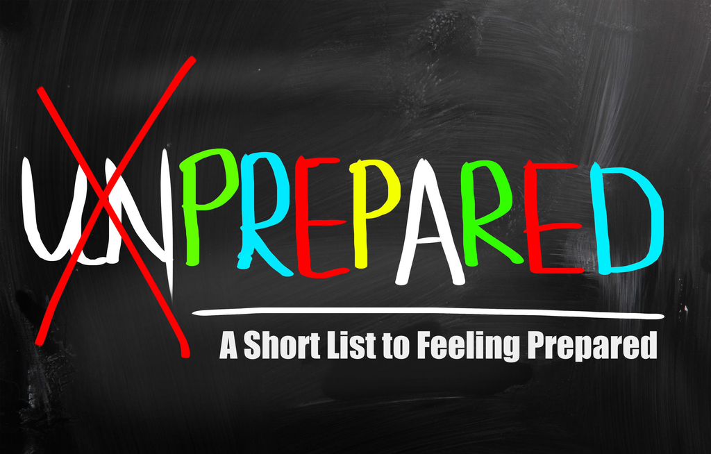 A Short List to Feeling Prepared