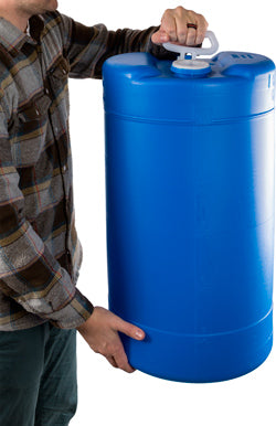 Emergency Water Storage Barrel - 15 Gallon & Emergency Water Storage Barrel | Portable Prepper Water Tank ...