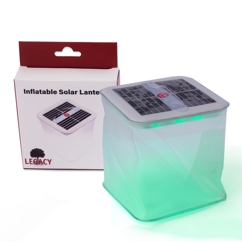 Inflatable Solar-powered Multicolor LED Lantern - 10 Lighting Modes