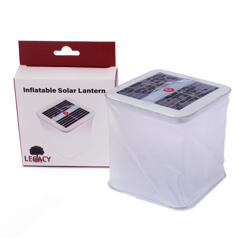 Inflatable Solar-powered White LED Lantern - Portable, Compact, Fun