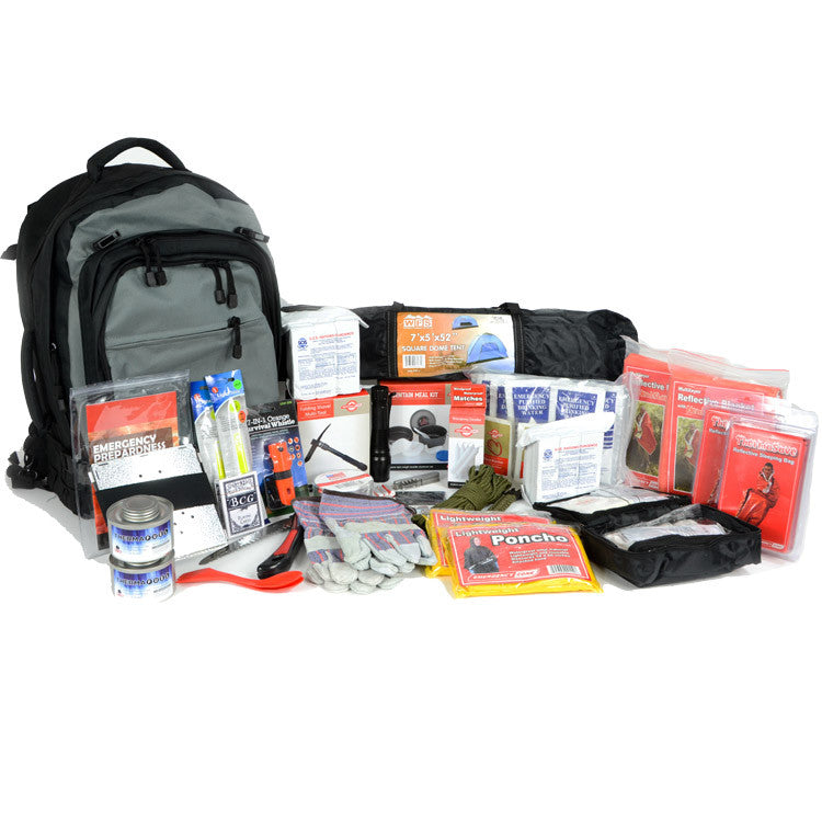 two person emergency disaster preperation packs