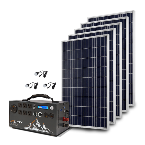 1500 Watt Solar Generator w/ Rigid Panels - 1.1kWh Lithium Ion Technology