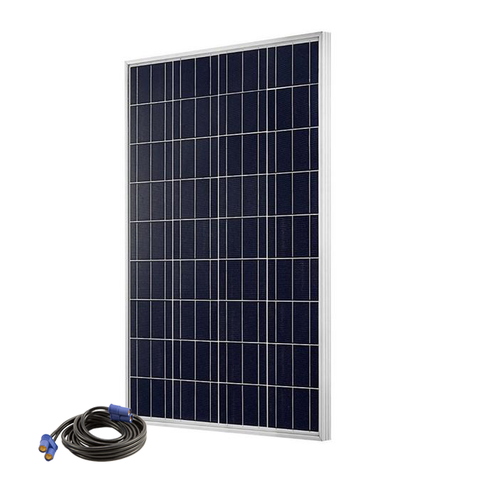 Solar Storm 100 Watt Solar Panel w/ 6' EC8 Cable - Rigid, Mountable Frame