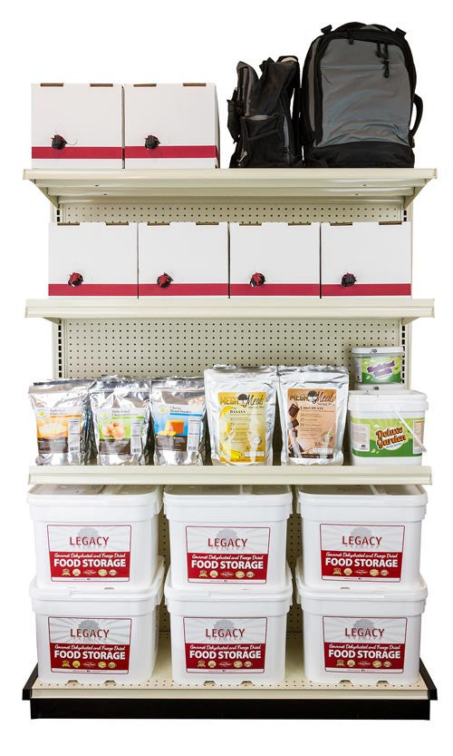Food storage water and other emergency supplies can be especially heavy and if you are looking for industrial quality shelving to organize your emergency ...  sc 1 st  Legacy Food Storage & Heavy Duty Steel Shelving Storage Units - 4 or 8 Foot Wide Sections ...
