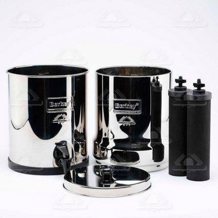 Big Berkey Stainless Steel Drip Filter System - 2 Black Berkey Filters (6000 gal.)
