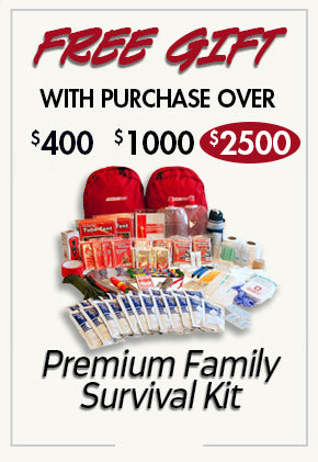 free Premium Survival Kit with purchase over $2500