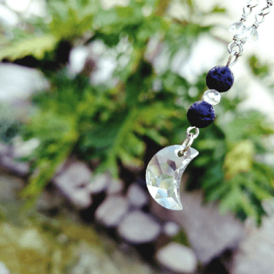 Luna ~ Crystal Moon Necklace