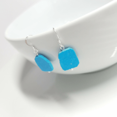 Slice of Turquoise Drop Earrings