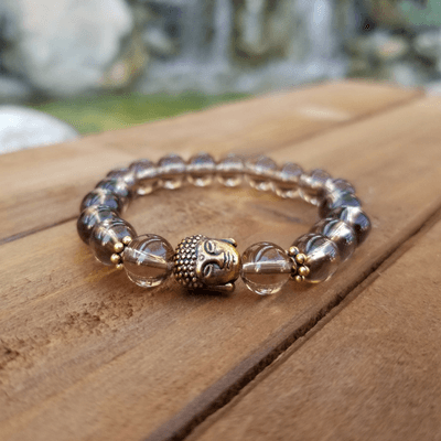 Smoky Quartz with Buddha Healing Energy Bracelet