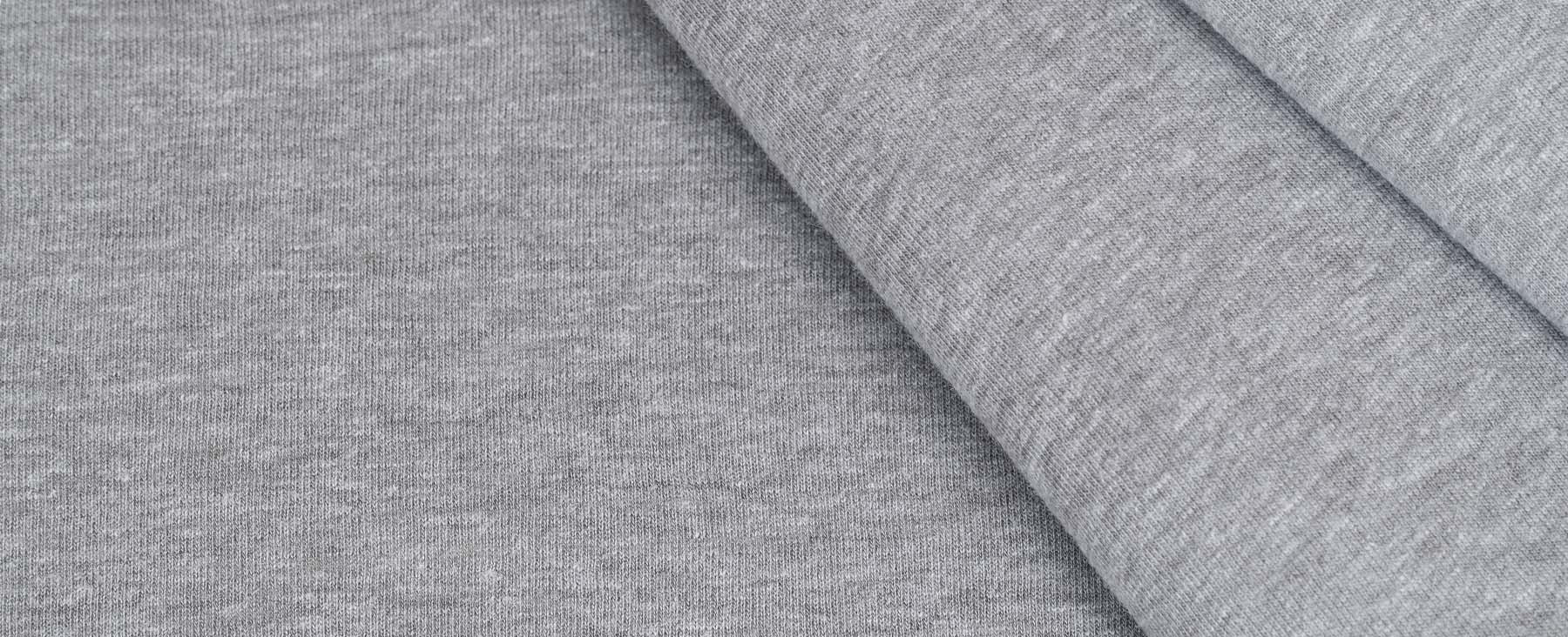 Jersey Fabric in Light Heather Grey