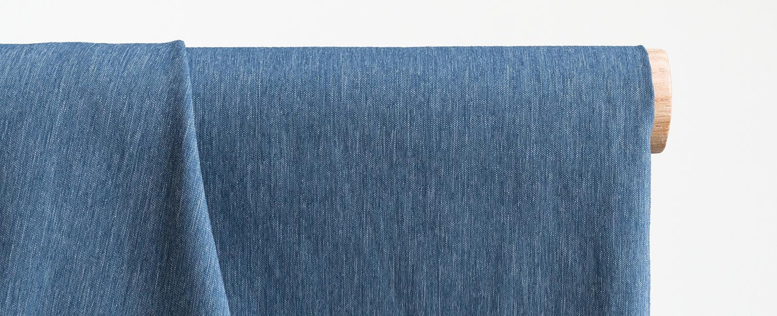Lightweight fabric sold by the yard in Chambray Blue