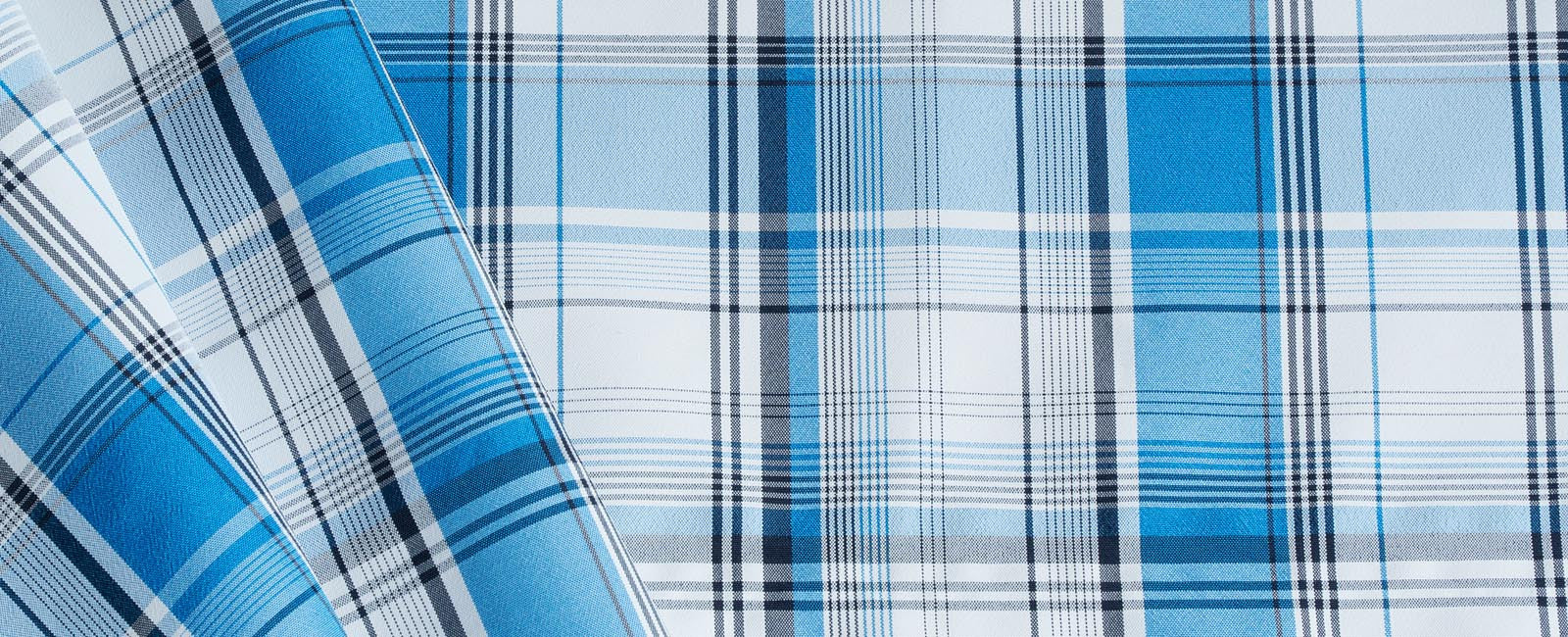 Lightweight fabric in Royal Blue Plaid