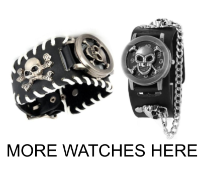 rebelstreet skull and goth watches