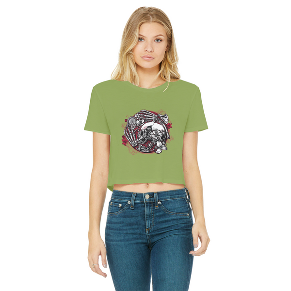Gallows Hill Cropped Raw Edge T-Shirt
