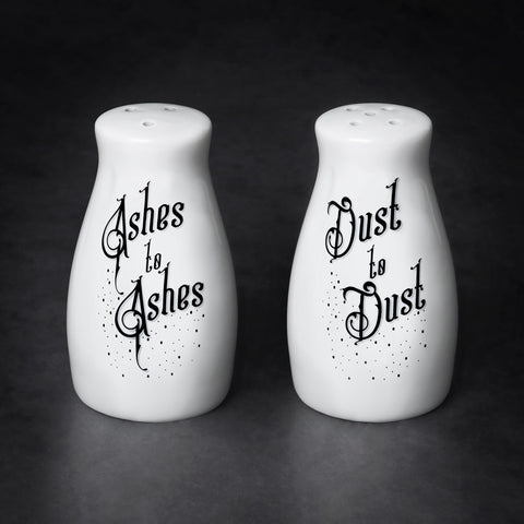 Ashes to Ashes/Dust to Dust Salt And Pepper Shaker Set