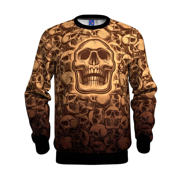 Skull Face Gothic Men's Sweatshirt