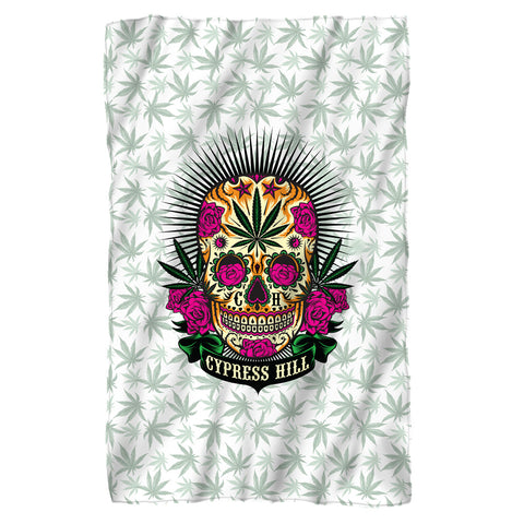Cypress Hill Skull Fleece Blanket