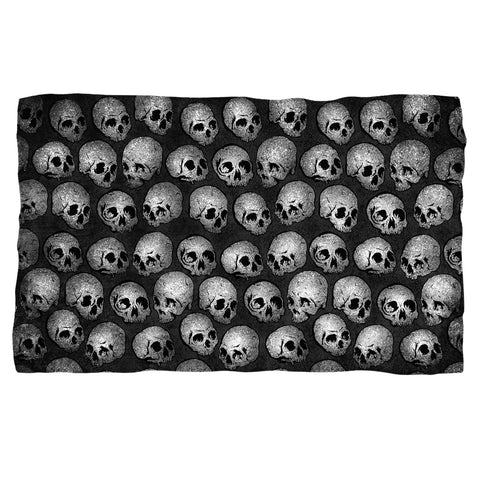 All Over Skull Heads Fleece Blanket