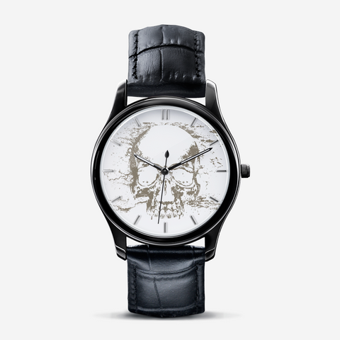 Skull Discreet Class  Black Quartz Watch