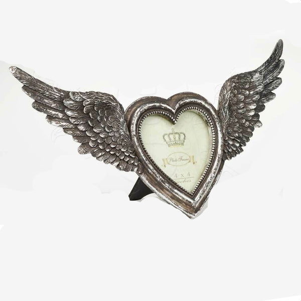 Free Standing Winged Heart Photo Frame