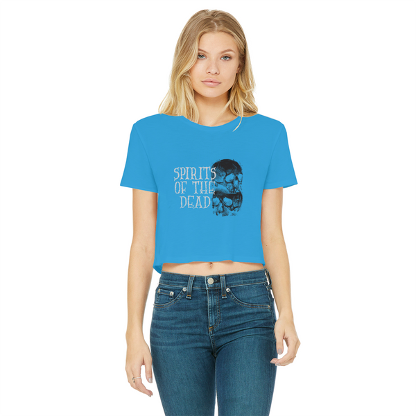 Spirits Of The Dead Cropped Raw Edge T-Shirt