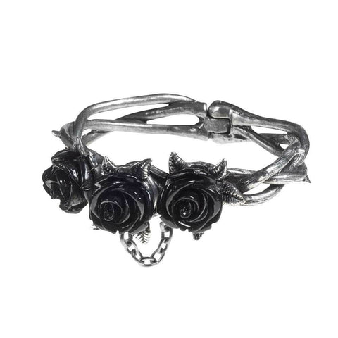 Thorny Vine Wild Black Rose Bracelet