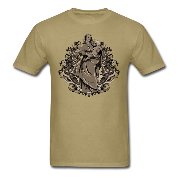 Dark Virgin Mary T-shirt - khaki