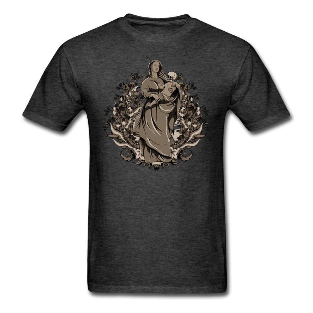Dark Virgin Mary T-shirt - heather black