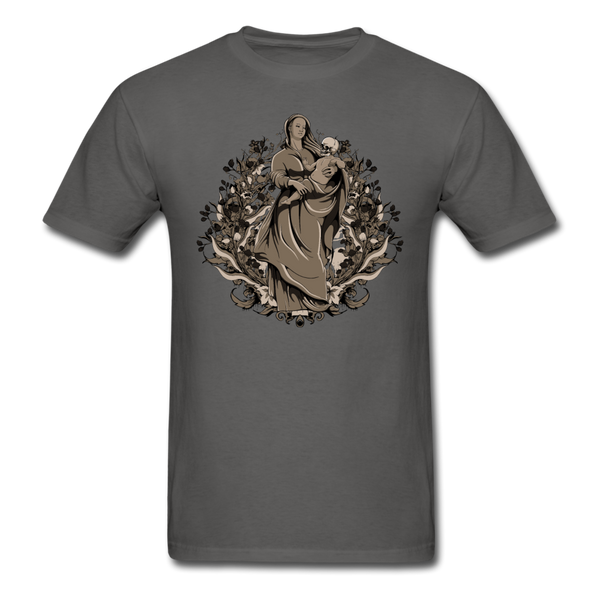 Dark Virgin Mary T-shirt - charcoal