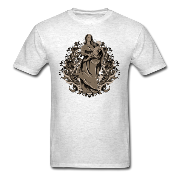 Dark Virgin Mary T-shirt - light heather gray