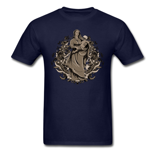 Dark Virgin Mary T-shirt - navy