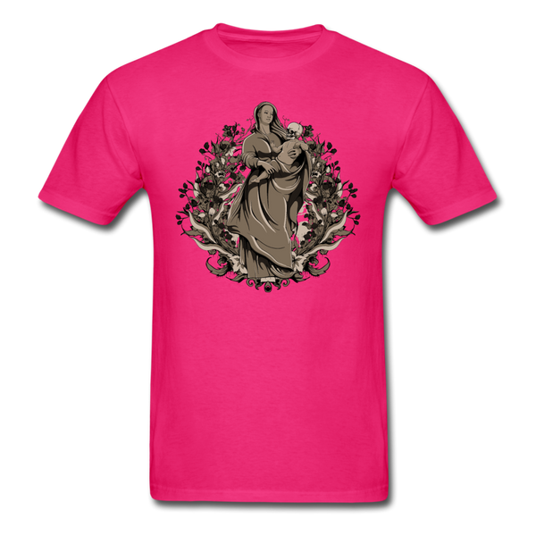 Dark Virgin Mary T-shirt - fuchsia