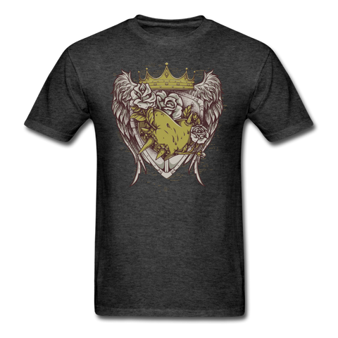 Winged Shield! T-Shirt - heather black