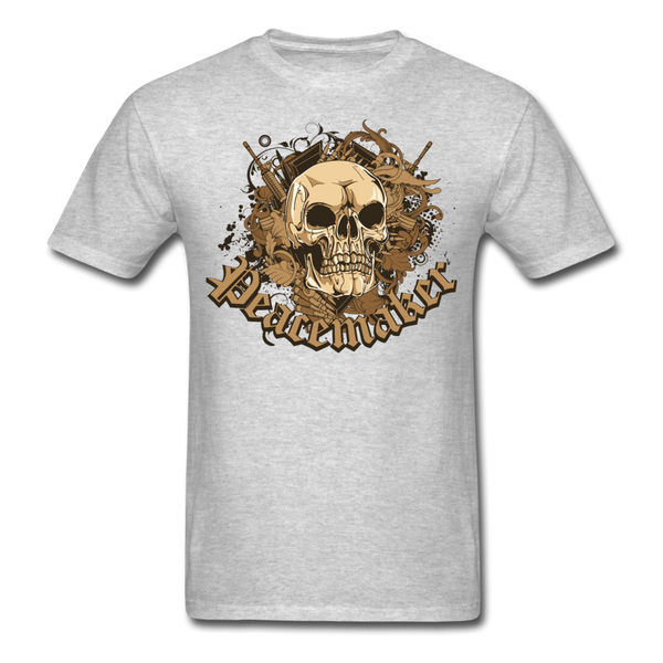 Peacemaker Skull T-Shirt - heather gray