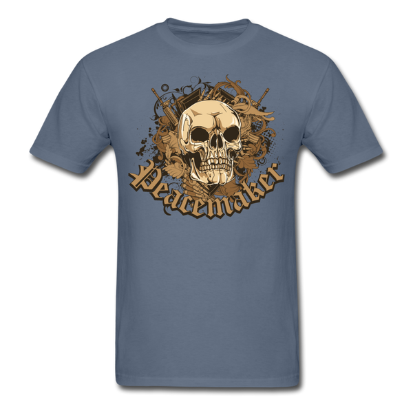 Peacemaker Skull T-Shirt - denim